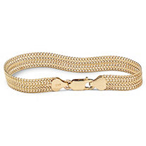 10k Yellow Gold Mesh Link Bracelet 7 1/4""