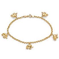 10k Gold Elephant Charm Bracelet