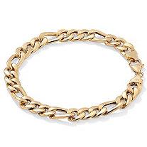 Men's Figaro-Link Bracelet in 10k Gold
