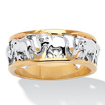 Elephant Caravan Ring in 14k Gold-Plated