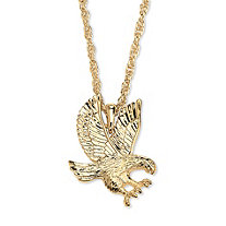 Men's Eagle Pendant Chain in Yellow Gold Tone 24""