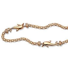 10k Dolphin Ankle Bracelet 10