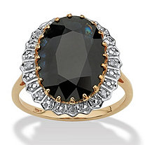 7.25-Carat Oval Cut Midnight Blue Genuine Sapphire 10k Gold Ring