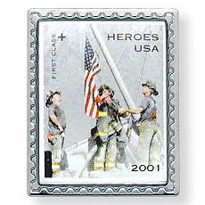 Heroes USA Pin