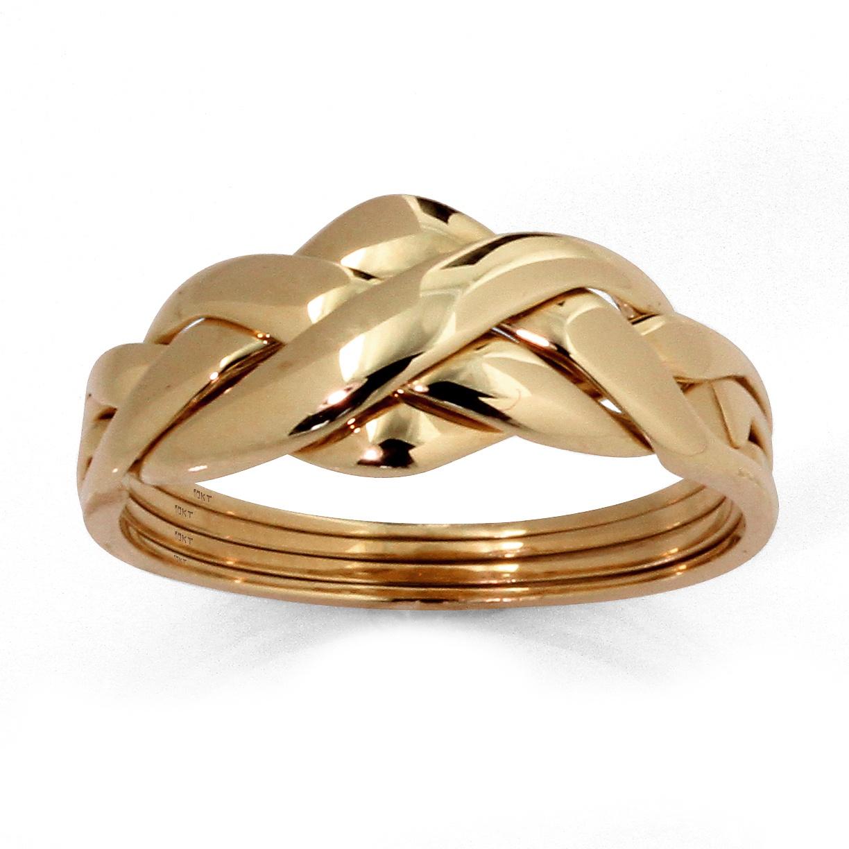 palmbeach jewelry 10k yellow gold braided puzzle ring ebay