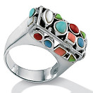 Multi-Mother-Of-Pearl Silver Ring | Shop PalmBeach & Save! :  jewelry and accessories trend jewelry fashion accessories