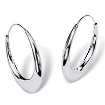 Sterling Silver Hoop Earrings 35.64 mm Diameter
