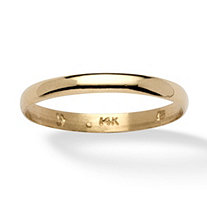 14k Yellow Gold 3mm Wedding Band