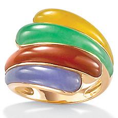 Multi-Color Jade 14k Wrap Ring | Shop PalmBeach  & Save!