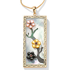 Mother-Of-Pearl 14k Pendant | Shop PalmBeach  & Save! :  jewelry palm beach jewelry flower pendant mother-of-pearl