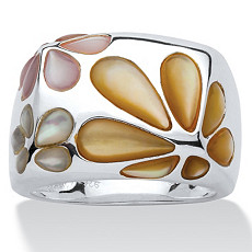 Mother-Of-Pearl SS Daisy Ring | Shop PalmBeach & Save!
