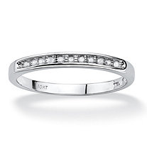 1/10 TCW Diamond Ring in 10k White Gold