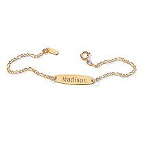 Child's 10k Yellow Gold Personalized I.D. Name Bracelet 6""