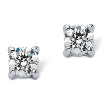 .50 TCW Round Cubic Zirconia Sterling Silver Stud Earrings