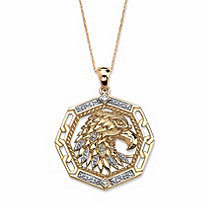Men's Diamond Accent 10k Yellow Gold Eagle Pendant