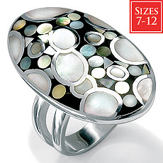 Mother-Of-Pearl Silver Ring | Shop PalmBeach  & Save!
