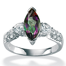 Mystic Topaz Sterling Silver Romantic Ring - Shop PalmBeach  & Save!  :  romantic silver sterling topaz