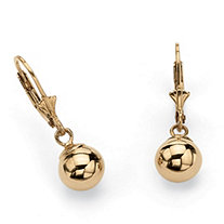 Ball Drop Earrings in 18k Gold over Sterling Silver