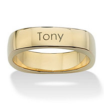 "18k Yellow Gold over Sterling Silver Personalized ""Keepsake"" Ring"