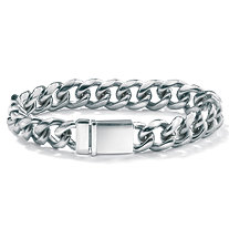 Men's Stainless Steel Curb-Link Bracelet 8