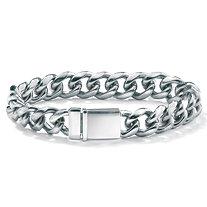 Men's Stainless Steel Curb-Link Bracelet 8