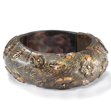 Flower & Leaf Bangle Bracelet 7