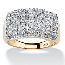 1/5 TCW Pave Diamond Ring in 10k Gold