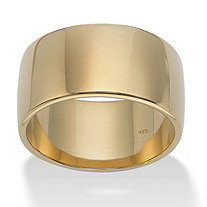18k Yellow Gold over Sterling Silver Wedding Band
