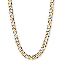 18k Yellow Gold Over Sterling Silver Curb-Link Necklace 22