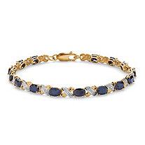 8.40 TCW Oval-Cut Genuine Blue Sapphire 10k Yellow Gold