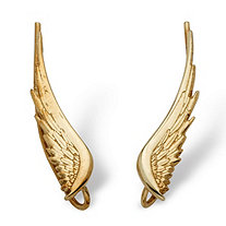 Angel Wing Ear Pins in 10k Gold