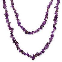 Nugget-Cut Genuine Amethyst Necklace 54