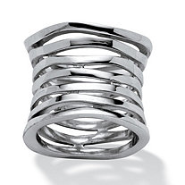 Sterling Silver Tailored Multi-Tier Band