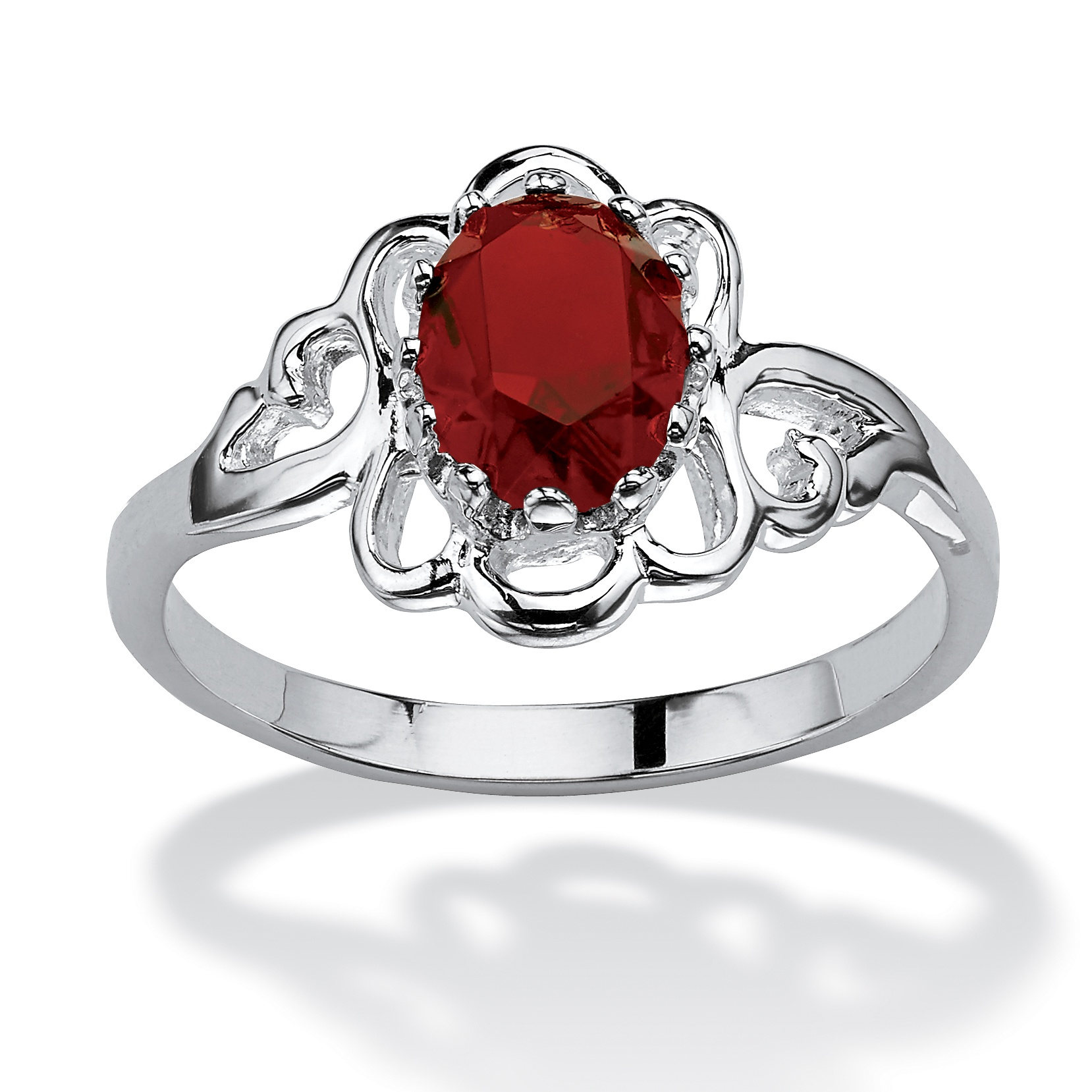 oval cut birthstone 925 sterling silver ring january