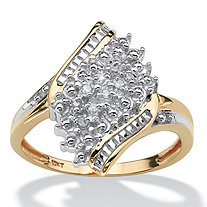 Diamond Accent Crossover Ring in 10k Gold
