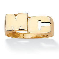 Personalized Initial Ring in 18k Gold over Sterling Silver