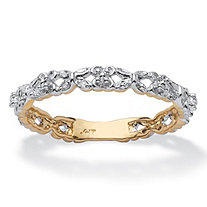 Diamond Accent 10k Yellow Gold Stackable Promise Ring Eternity Band