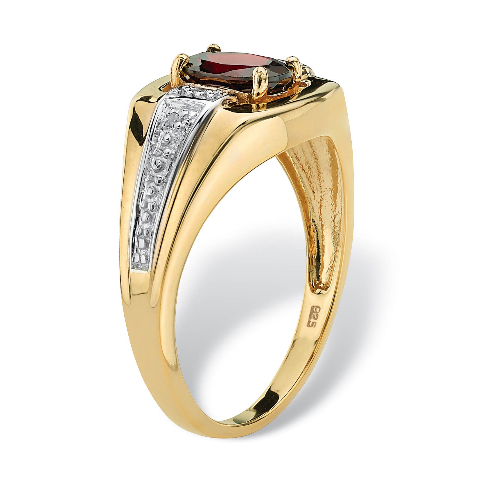 palmbeach jewelry men 39 s 1 40 tcw garnet ring 18k gold over. Black Bedroom Furniture Sets. Home Design Ideas