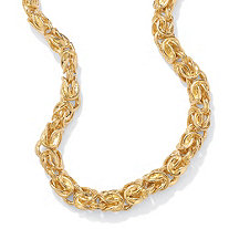Byzantine-Link Necklace in Yellow Gold Tone 20""