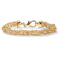 Byzantine Link Bracelet in Yellow Gold Tone 9""