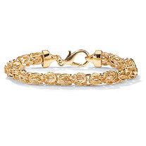Byzantine Link Bracelet in Yellow Gold Tone 9