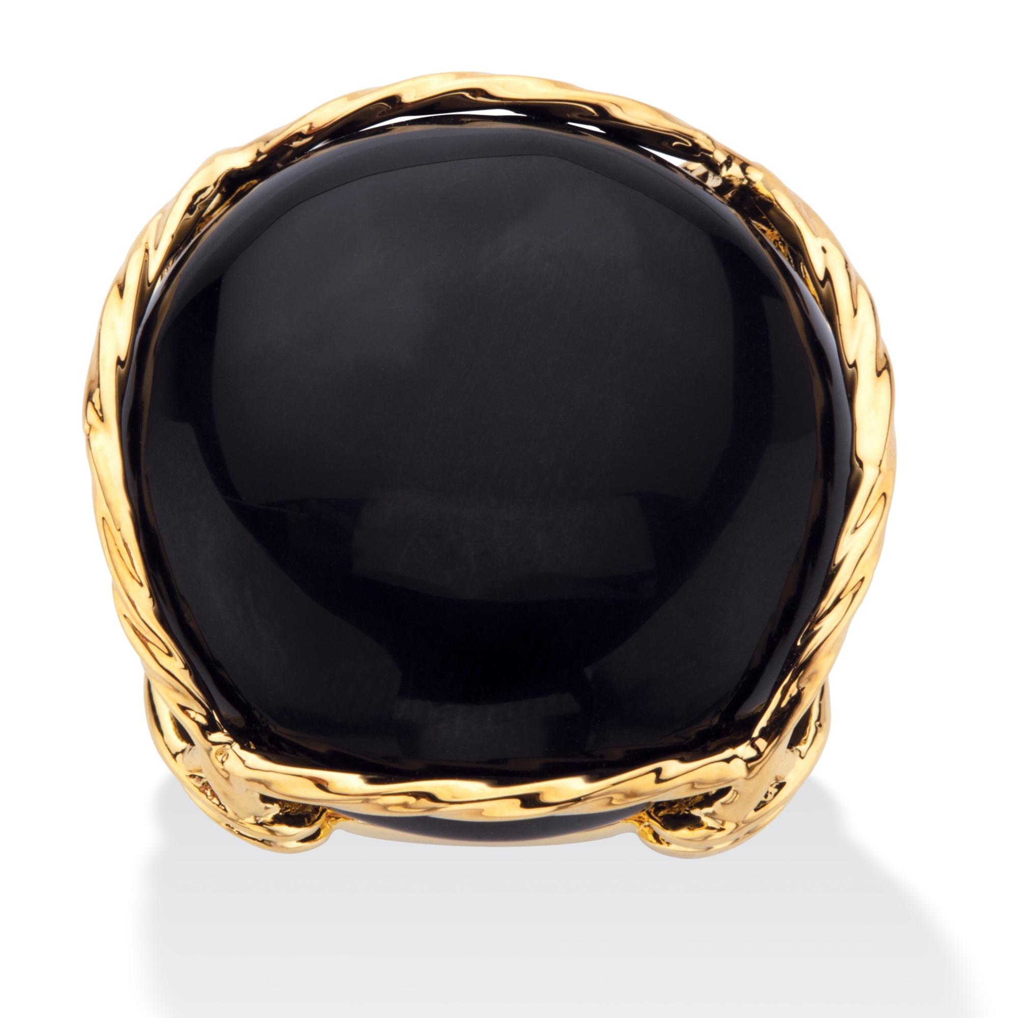 Onyx Gold Ring Womens