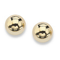 10k Yellow Gold Ball Stud Earrings 4 mm