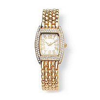 Crystal Watch in Yellow Gold Tone 7 1/2""