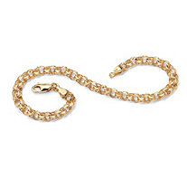 10k Yellow Gold-Plated Rolo-Link Bracelet 7 1/2""
