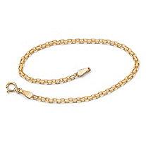 10k Yellow Gold Bismark-Link Bracelet 7 1/4