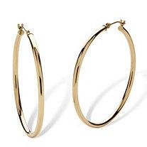10k Yellow Gold Hoop Earrings 40mm Diameter