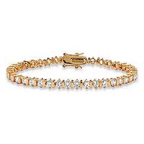 5.00 TCW Round Cubic Zirconia 14k Yellow Gold-Plated Tennis Bracelet 7 1/4