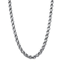 Men's Stainless Steel Rolo-Link 6 mm Necklace Chain 24""