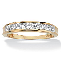 .81 TCW Princess-Cut Cubic Zirconia 18k Yellow Gold over Sterling Silver Anniversary Ring